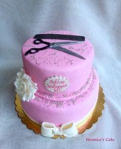Hairdresser birthday cake