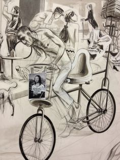 Charles Avery - Place de la Revolution, Pillar Corrias Ink Pen Drawings, Drawing Style, Figure Drawing, Artist At Work, Bicycles, My Eyes, Art Boards, 2d, Revolution