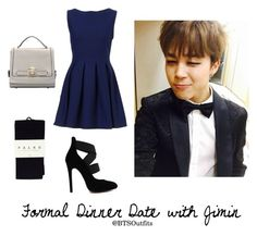 """""""Formal Dinner Date with Jimin"""" by btsoutfits ❤ liked on Polyvore featuring Falke"""