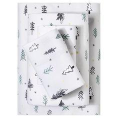 Flannel Sheet Set (Queen) Gray Forest Print (Queen) - Evergreen : Target