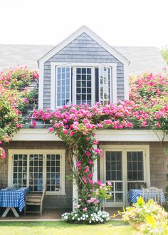 Nantucket Beach Home Beautiful curb appeal on this Nantucket style New England home.