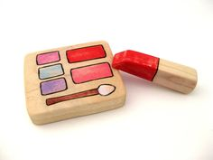 Pretend Makeup - Wood Toy - Handmade Toy - Kids Toy