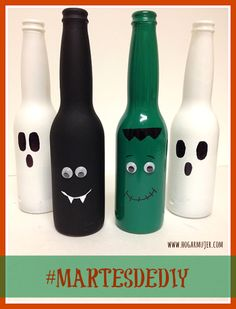 #MartesDeDIY: Botellas decoradas para #HALLOWEEN