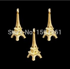 Charm Pendants Paris Eiffel Tower  Plated Clear  23mm x 8mm10PCs 00951 * Charms alloy Beads European Style heart bead charms //Price: $9.95 & FREE Shipping //     #hashtag2