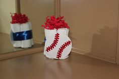 Mini Diaper Cake  Baby Boy  Baseball  Baby by MommyMakingMemories, $6.00
