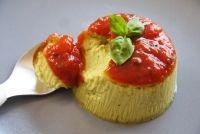 Flan de courgettes au basilic à la sauce tomate pour bébé