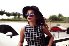 Alana Ruas: Vintage Steampunk Inspired Round Horned Rim Frame Sunglasses 8591