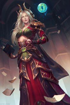 Blood Elf Mage World of Warcraft Art Board ^^ // Blizzard // wow // // Digital // Geek // World Of Warcraft, Art Warcraft, Warcraft Funny, High Fantasy, Fantasy Rpg, Fantasy Girl, Fantasy Artwork, Fantasy Races, Fantasy Dragon