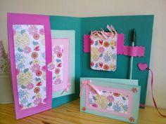 Portadocumentos en goma eva y papel decorado