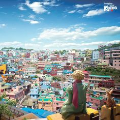 """Santorini of Korea."" Busan Gamcheon Culture Village"