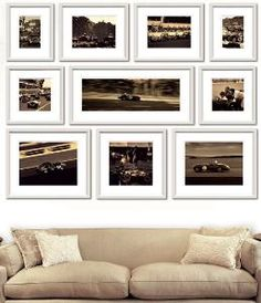 This set of sepia prints are framed in a simple and chic white wood to allow the beauty captured by photographer Ben Wood.  Product in photo is from www.wellappointedhouse.com