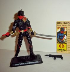 gi joe IRON GRENADIER 2008 v6 red pistol 25th anniversary complete with file card complete action figure for sale in online toy store to buy now. toy series