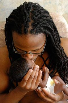 look how small we all start out!!!! how could your Dad NOT be your hero??? nice locs too!