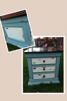 $15 night stand redone in AS duck egg.