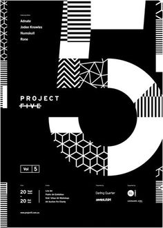 Project 5  --- geometric patterns in black and white for this poster design