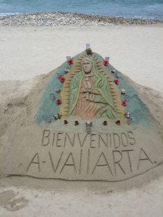 Puerto Vallarta sandcastles downtown, off Malecon