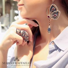 JACOB AND CO @hernameismargo Can't get enough of these super cool yet comfortable to wear @jacobandco butterflies earrings, ring