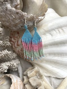 Seed Bead Fringe Earrings by Santa Barbara Charm