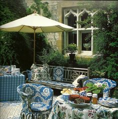 lovely patio setting for tea time