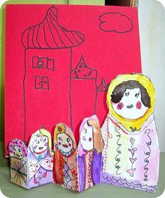 Mickaëlle Delamé: des Matriochkas à l'aquarelle, cours de peinture enfants de Marmande