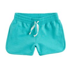Girls 4-10 Jumping Beans® French Terry Dolphin Shorts, Turquoise/Blue (Turq/Aqua)