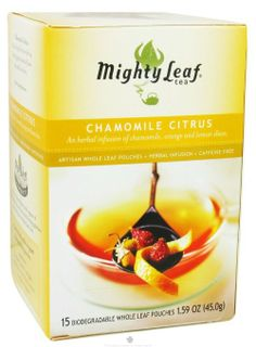 Mighty Leaf Chamomile Citrus Tea, 15 Tea Pouches: Amazon.com: Grocery & Gourmet Food