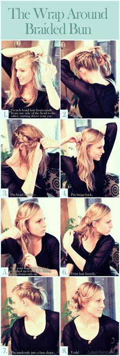 Wrap around braided bun hairstyle   Kenra Professional Inspiration