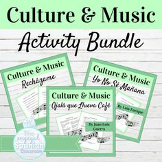 Spanish Activity and Project Bundle | Spanish Culture through Music