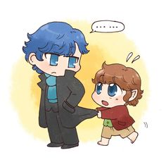 ADORABLE: Sherlock and Johnbo! A rare Sherlock-Hobbit crossover not including Smaug.