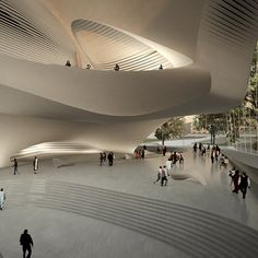 King Abdullah II House of Culture & Art by Zaha Hadid, a new performing arts centre in Amman, Jordan