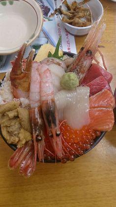 海鮮丼(*^^*)