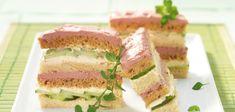 Gestreifte Sandwichstangen