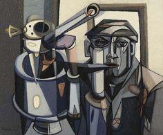 Man and Machine III (c. 1951),  David Carr