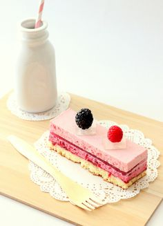 strawberry mousse, lychee gelee, blackberry & raspberry mousse cake   Amy's Food Adventures