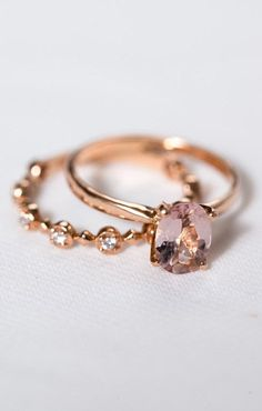 Rose Gold Morganite Engagement Ring