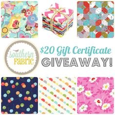 http://katiesquiltingcorner.com/2013/10/20-giftcard-giveaway-southern-fabrics.html