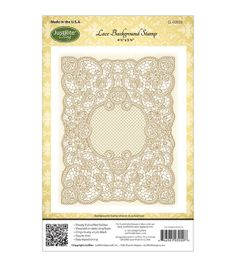 """12.95 not on sale joann.com  JustRite Stampers Cling Background Stamp 4-1/2""""X5-3/4""""-Lace, , hi-res"""