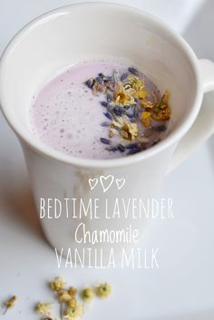 Bedtime Lavender Chamomile Vanilla Milk ⋆ SomeTyme Place<br> Looking for a yummy drink to help calm and promote sleep? Try this recipe for Bedtime Lavender Chamomile Vanilla Milk in your bedtime routine. Yummy Drinks, Healthy Drinks, Yummy Food, Healthy Recipes, Chickpea Recipes, Nutrition Drinks, Healthy Eats, Smoothie Drinks, Smoothies