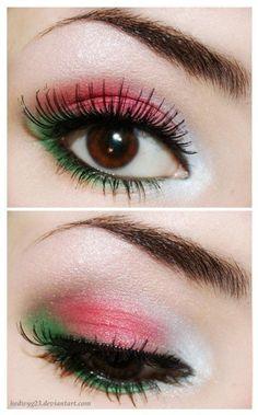 aabcc73a652 Christmas colors eye makeup #EyeMakeupWedding Red Makeup, Makeup For Green  Eyes, Makeup Eyeshadow