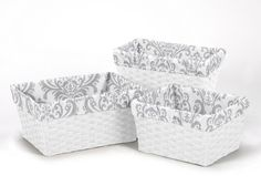 Set of 3 One Size Fits Most Basket Liners for Gray and White Damask Print Bedding Set Collections Sweet Jojo Designs,http://www.amazon.com/dp/B00H4HV3J4/ref=cm_sw_r_pi_dp_GBLztb0JHD9VPHD8