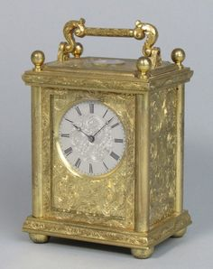 An Engraved English Carriage Clock
