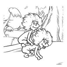 dr seuss coloring pages thing one and thing two - One Coloring Page