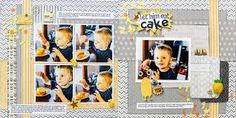 Image result for double page scrapbook layouts for 5 vertical photos