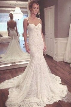 Custom Made Delightful Backless Wedding Dress 2019 Long Wedding Gowns,Cheap Bridal Dresses,Sexy Backless Mermaid Lace Wedding Dresses Long Gown For Wedding, Summer Wedding Gowns, Wedding Dress Train, Wedding Dresses 2018, Applique Wedding Dress, Lace Mermaid Wedding Dress, Backless Wedding, Mermaid Dresses, Dress Lace