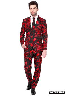 Men's Halloween Blood Suitmeister - FOREVER HALLOWEEN Costume Halloween, Halloween Suits, Halloween Party, Adult Halloween, Scary Halloween, Flapper Costume, Halloween Fashion, Women Halloween, Festivals
