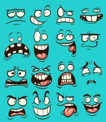 Funny cartoon faces with different expressions. Vector clip art illustration with simple gradients. Each on a separate layer. Funny cartoon faces with different expressions. Vector clip art illustration with simple gradients. Each on a separate layer. Cartoon Faces Expressions, Funny Cartoon Faces, Drawing Cartoon Faces, Cartoon Expression, Cartoon Sketches, Cartoon Art, Funny Cartoons, Tired Cartoon, Easy Cartoon