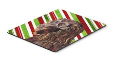Boykin Spaniel Candy Cane Christmas Mouse Pad, Hot Pad or Trivet