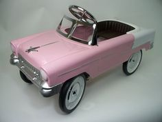 *55 CLASSIC CONVERTIBLE ~  Pedal Car: Pink and White 55P