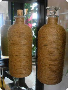 Make your own jute jars - like in Ballard Designs!