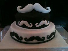 Moustache cake